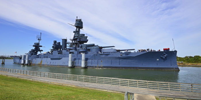 The ship was the world's most powerful weapon in the early 1900s and became the first battleship to launch an aircraft.