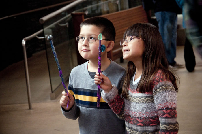 Make your own wand and practice spells...
