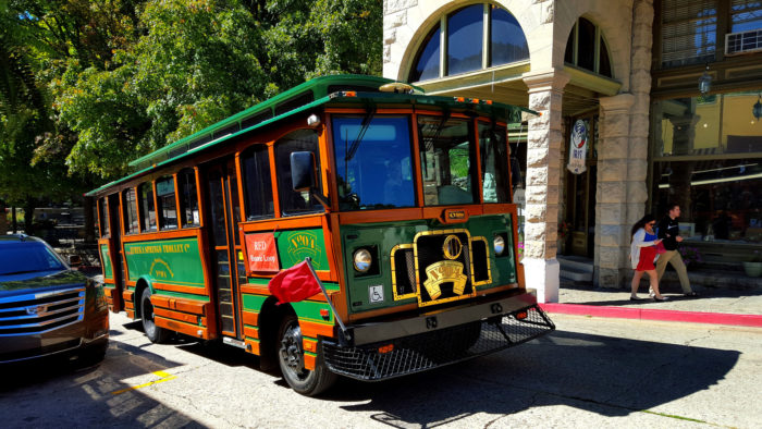 There's a trolley bus that will take you all over town.