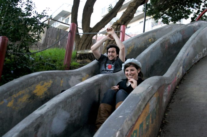 Fun is the name of the game on these slides! All you need to bring to the Seward Slides is your sense of childish abandon.