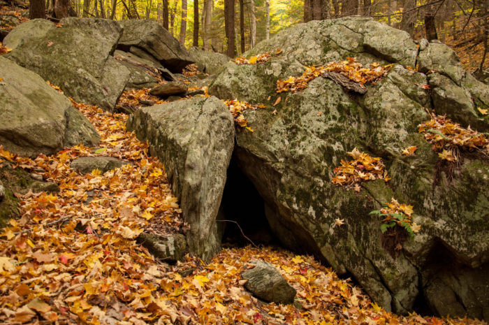 There are so many hidden nooks and crannies to explore on October Mountain. Be sure to bring a flashlight and sturdy footwear if you intend to poke around the caves and boulders.