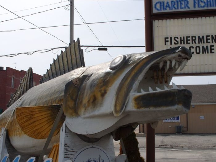 """Port Clinton is nicknamed the """"Walleye Capital of the World"""" for its abundance of walleye. And on New Year's Eve at midnight, the town drops a giant fiberglass walleye in celebration, similar to the Times Square ball drop."""