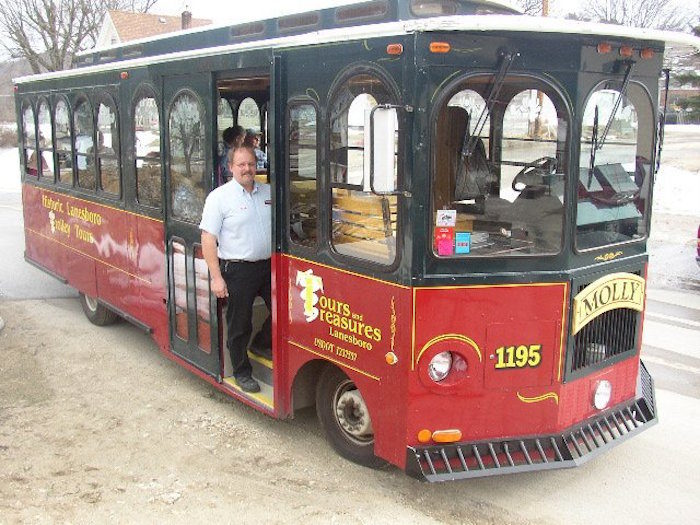 Another option for seeing the sights of Lanesboro is to take a trolley ride. The one-hour tour starts at Lanesboro's Tours and Treasures.