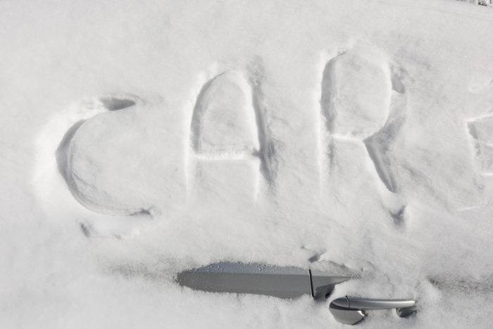 8. Next time you don't want to shovel snow...