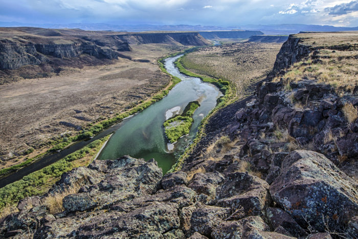 For a dramatic backdrop and breathtaking view of some of Idaho's most underrated scenery, the Bruneau River Canyon overlook is hard to beat.