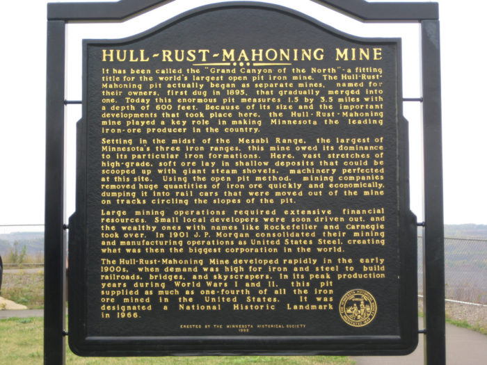 The Hull-Rust-Mahoning Mine is located in Hibbing.