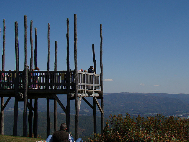 You'll make another stop at Bald Knob to enjoy the overlook here.