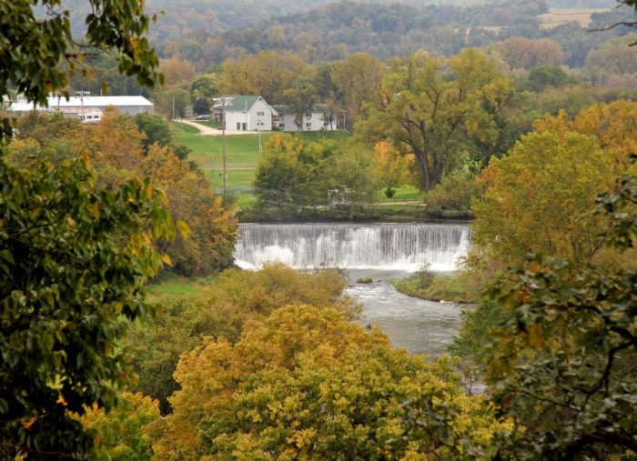 One of the things you'll definitely want to see is the hydroelectric dam on the Root River. The dam creates an incredible waterfall that, when combined with the fall foliage, make for a picture-perfect view.