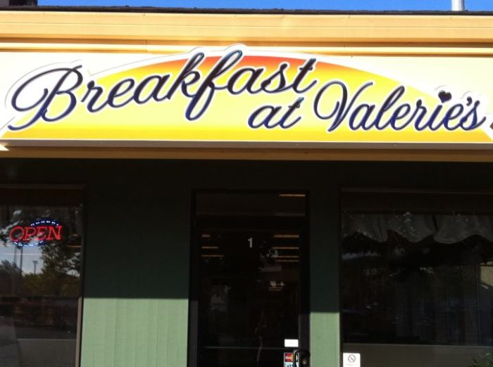 5.  Breakfast at Valerie's, Vancouver
