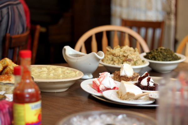 If you really want to experience all The Dinner Bell has to offer, visit on a Sunday when the fare is even more plentiful than usual and includes a variety of desserts.