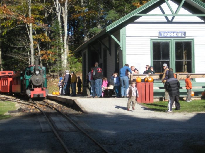 The Boothbay Railway Village is typically a lovely, relaxing place.
