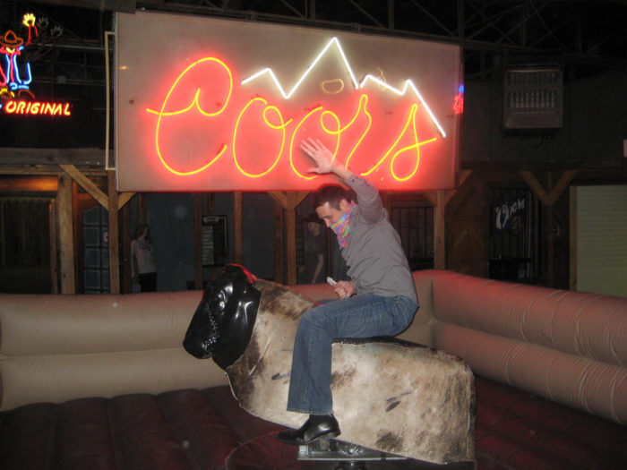 10. Sip Coors Banquet, ride the bull, and boogie with the cowboys at the Grizzly Rose.