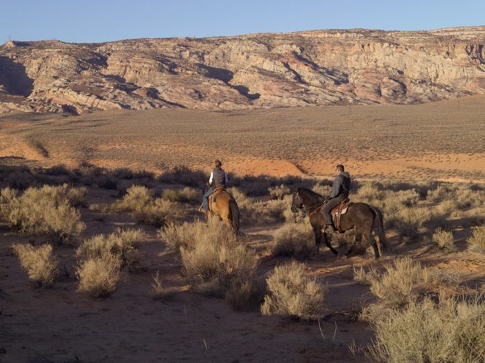 While you're at the resort, take a horseback-riding excursion.