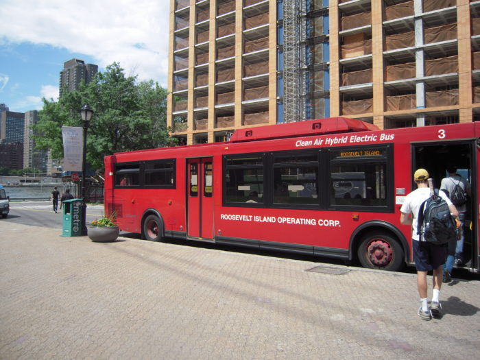 While you're not likely to see cars, you will find that Roosevelt Island has its own bus system that you can take advantage of.