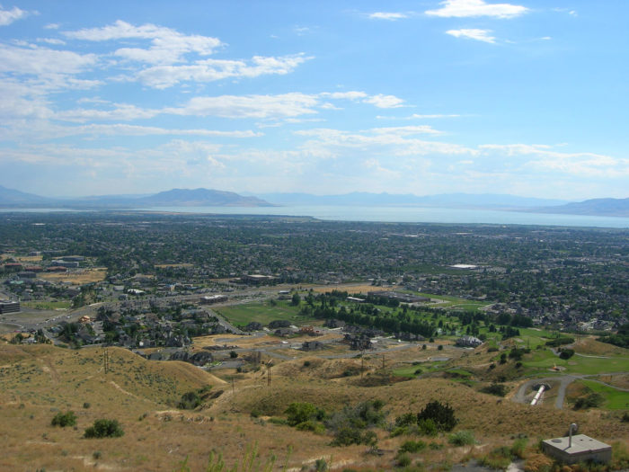 Here's a gorgeous view of the Utah Valley from above Orem.