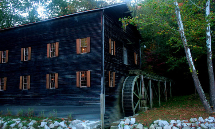 Also within the park, you'll find Wolf Creek Gist Mill, which dates back to 1831. You can tour the historic mill and its surrounding reconstructed 1800s log cabins.