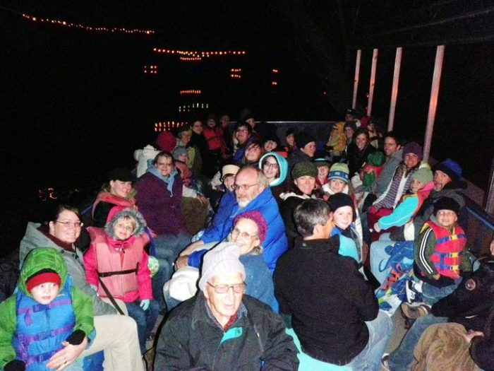 Up to 40 people will cruise the Provo River with you, past the jack-o-lanterns, along the dark river passage.