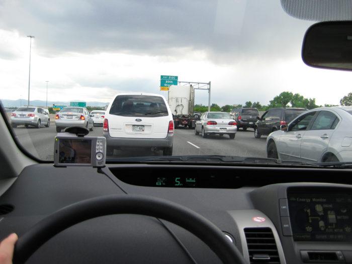 11. Get stuck in standstill traffic.