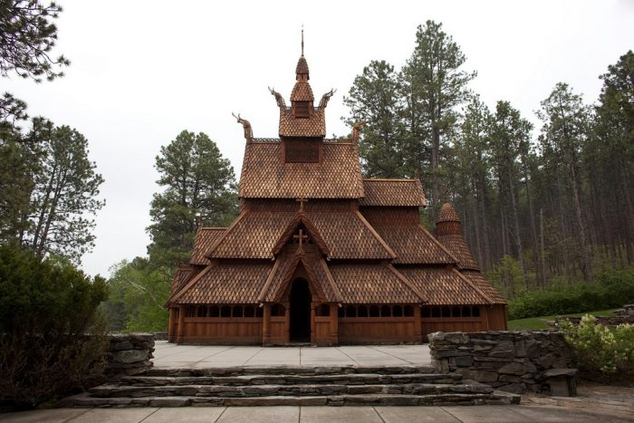 2. The stunning Chapel in the Hills, based on Norwegian stave churches.