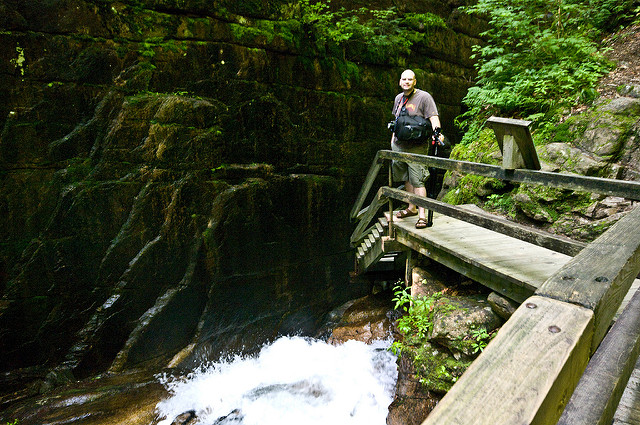 Because of the walkway, Flume Gorge is accessible to anyone who can handle stairs.