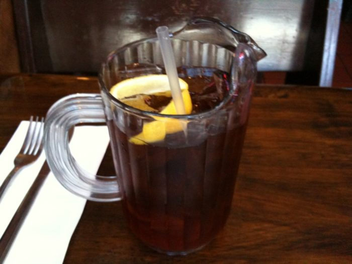 6. Order unsweetened ice tea.