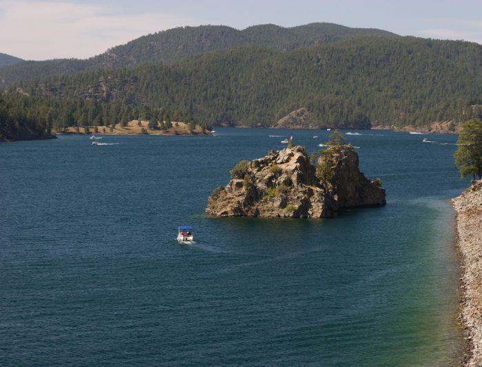 4. The Pactola Lake, or reservoir, created from the Pactola Dam. It is now very popular for all kinds of outdoor recreation.