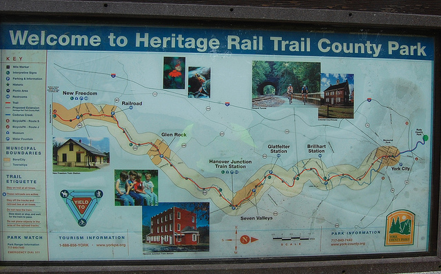 Spanning 21 miles across York County, the Heritage Rail Trail has beckoned hikers, bikers, and horseback riders since its debut in 1992.