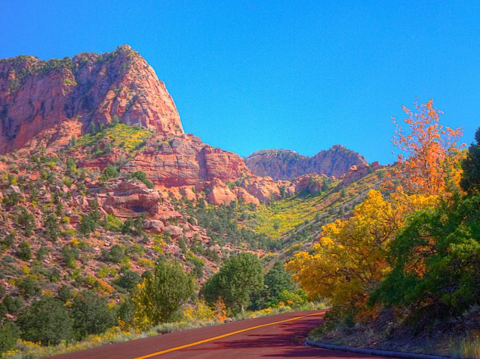 Take your time driving along this scenic road.