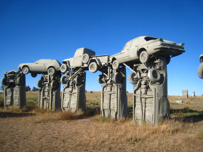 This was by no means the first homage to Stonehenge; the Carhenge sculpture in Nebraska dates back to 1987.