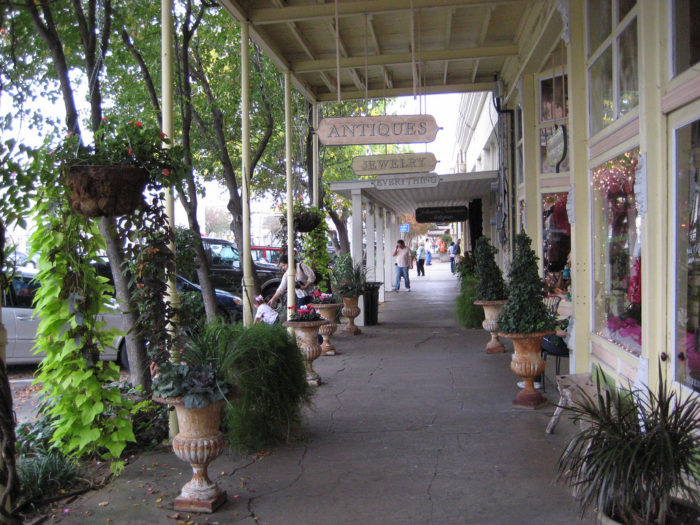 You can browse around in some of the many antique shops and jewelry stores...