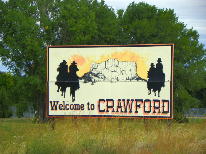 Crawford, in Dawes County in northwest Nebraska, has a population of just under 1000.
