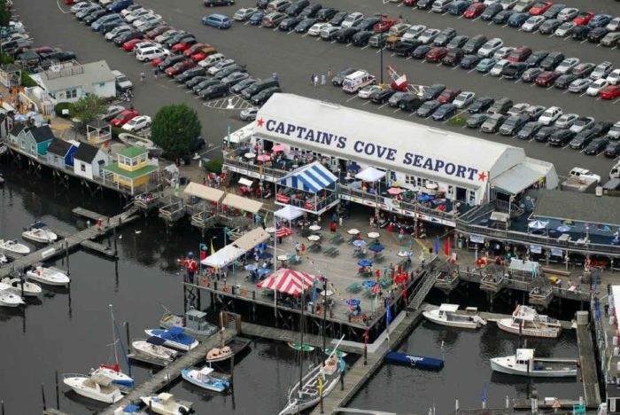 Captain's Cove Seaport is located at 1 Bostwick Avenue in Bridgeport. As one of Connecticut's premier tourist attractions, you're sure to fall in love with this place's laid back atmosphere and friendly staff.