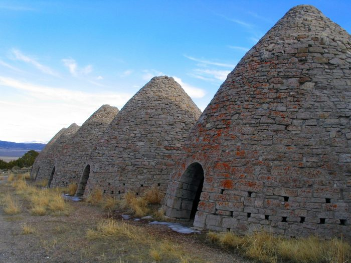 While you're in the area, take a drive to the nearby Ward Charcoal Ovens, left from the old silver mining town of Ward.