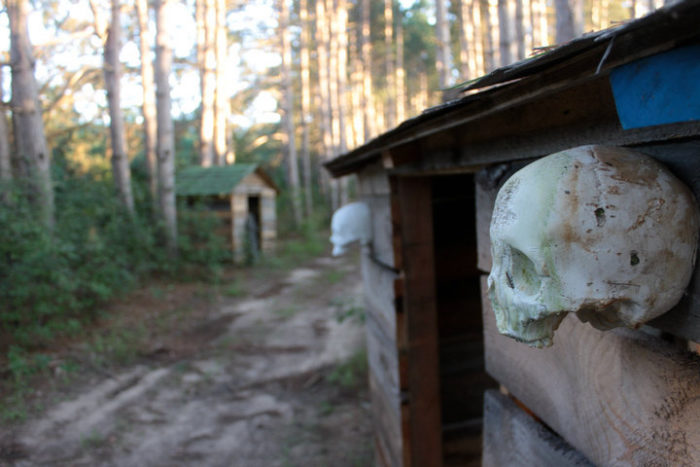 Dead End is actually three attractions in one. Guests start out on a creepy hayride through the woods. You never know who - or what - might pop out from between the trees or behind one of the ramshackle buildings that line the path.