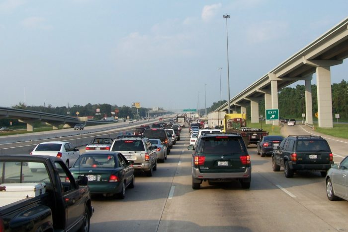 8. I wonder what traffic getting out of town is like right now.