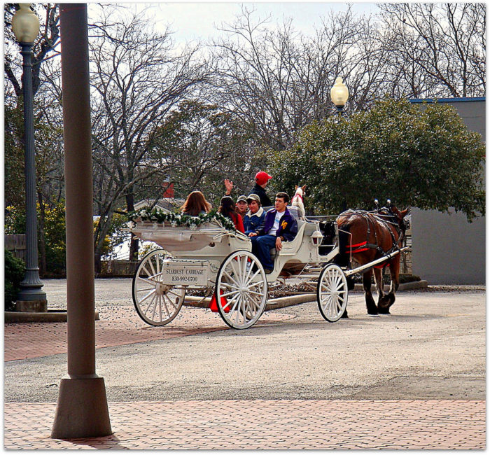Maybe even take a horse-drawn carriage ride around town...