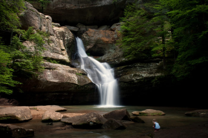 Pictured is the enchanting Cedar Falls. It's a must-see after you've passed through Old Man's Cave.