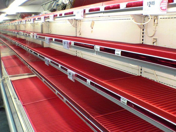 13. Really? !! This hurricane ain't for another four days and you're tellin' me there's not one single loaf of bread in this store??