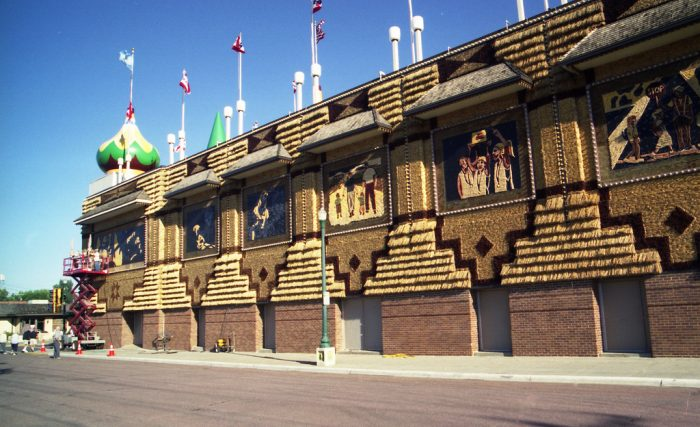 7. A tourist favorite, the Corn Palace in Mitchell, made from actual corn cobs.