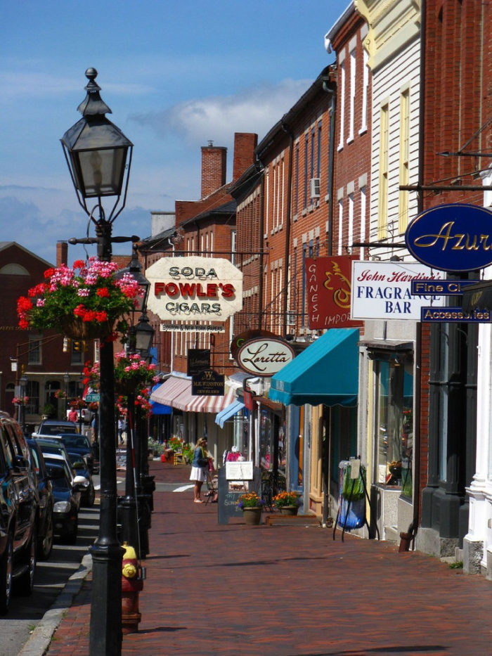 The wide, brick streets are lined with shops, restaurants and cafes that feel as if they fell straight out of a New England postcard.