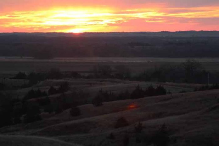 If you linger over your meal and a perfectly paired wine long enough, you may just get to see the sun setting over one of the prettiest places in the state.