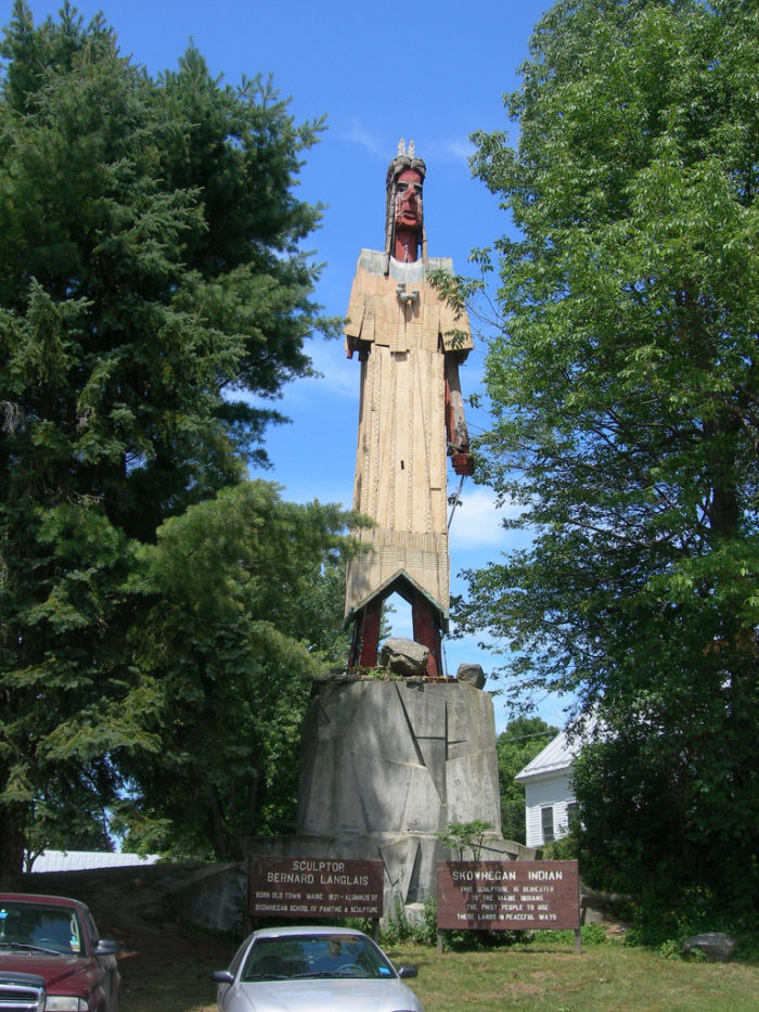 16. Now, you'll head back into Skowhegan via Route 201 and finish up at one of Maine's stranger attractions - The Giant Skowhegan Indian.
