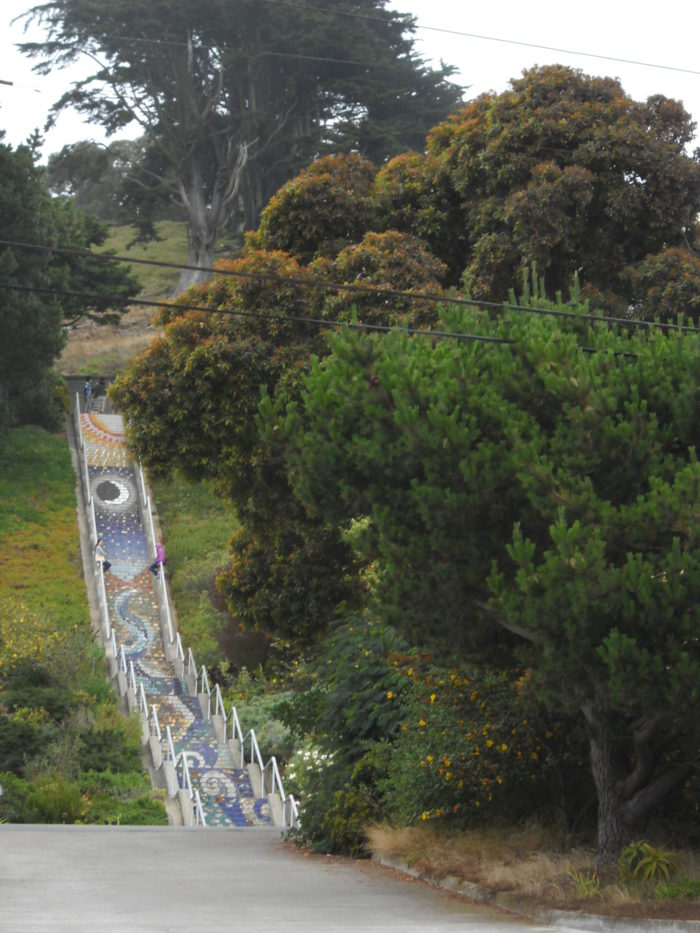 3. Golden Gate Heights Mosaic Stairway: Moraga St (btw 15th Ave & 16th Ave), San Francisco