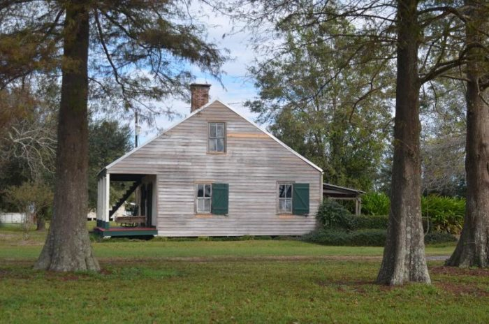 1) Four Cypress Acadian Cabin