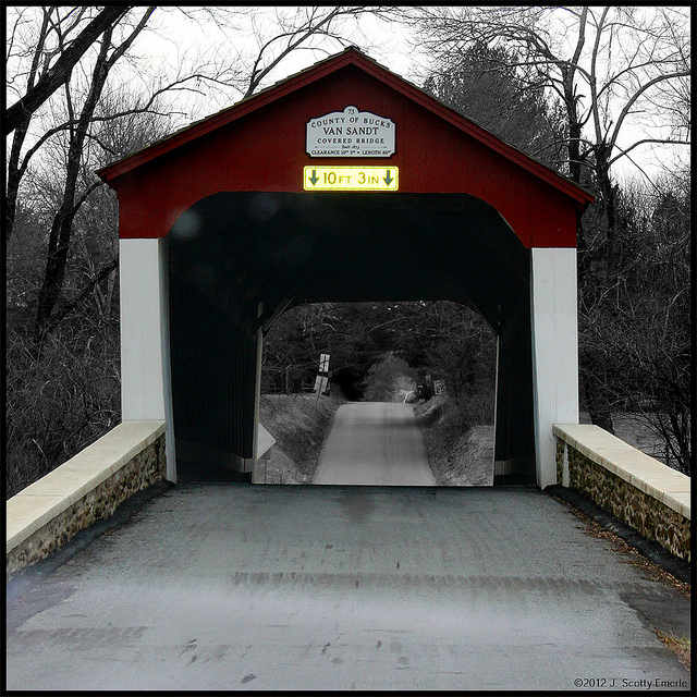 5. Van Sant Covered Bridge – New Hope