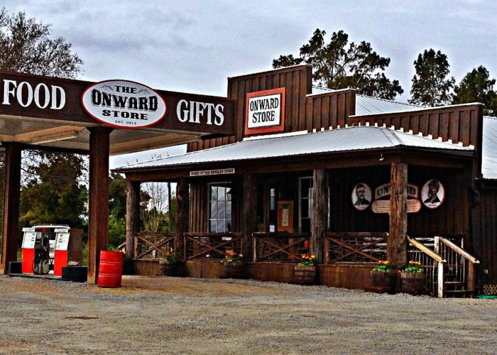 the Onward Store. Located on a lonely stretch of Highway 61 in Rolling Fork, the still-functioning general store has been serving locals and hunters since 1913, and in recent years, has grown to include a restaurant.