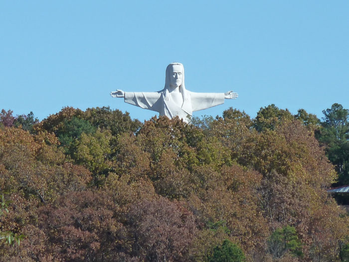 . . . and a sixty-six foot Jesus watching over it all?