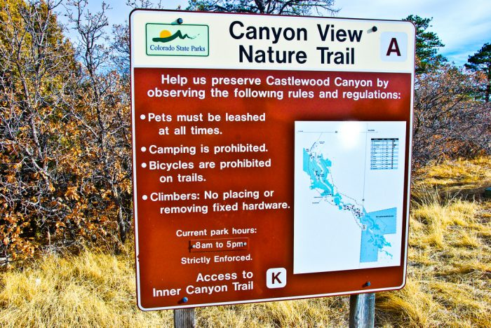 Located near Franktown, Castlewood Canyon State Park is a 2,621-acre park that houses not only numerous hiking trails, but an important part of Colorado history as well.