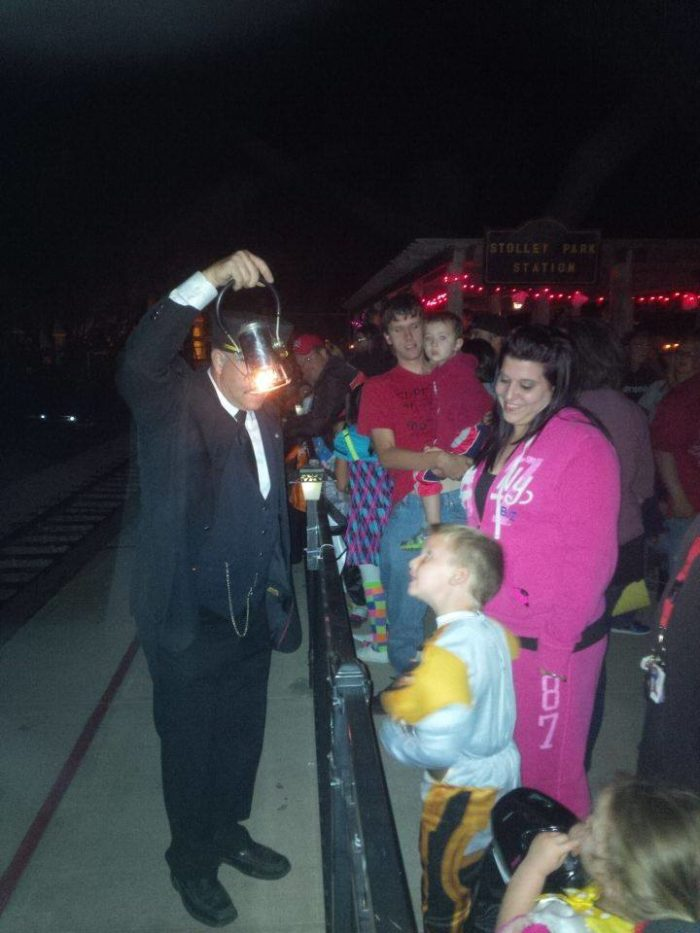 ...but come late October, the railroad runs for a few special days to delight little ghouls and goblins.