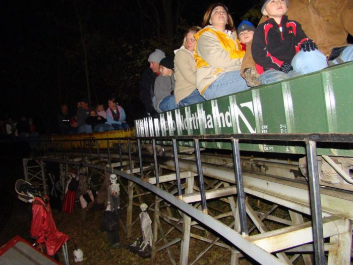 But when Halloween rolls around, things get a bit more eerie at the railroad. Each year, crowds show up to take a creepy ride on the annual Halloween Spook Train.